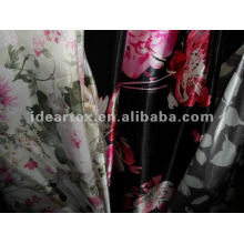 Printed Satin Silk-like Graceful Fabric for Lady Dress
