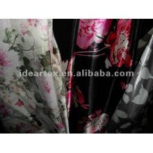 Impresso de cetim de seda-como a tela graciosa para vestido de dama