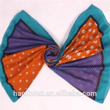 Сплетенный сплетенный полиэфир вуаль мусульманский шарф ткани / вышитый хлопок вуаль ткани 60 * 60 90 * 88