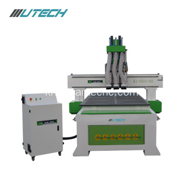 Pneumatic cnc router 1325 three head woodworking machine