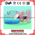 Environmental Indoor Plastic Children Slide and Swing with Ball Pit