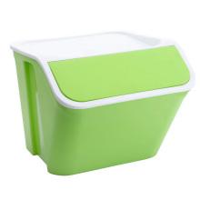 Recipiente de caixa de armazenamento de plástico multifuncional para casa
