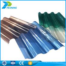 Bonne qualité en plastique polycarbonate translucide de haute qualité feuille de toit ondulé feuille