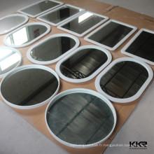 Miroir de salle de bains à extrémité élevé de conception diverse avec le cadre en pierre