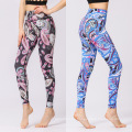 Pantalones de yoga con estampado digital para mujer