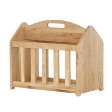 Natural Solid Wooden Magazine Rack (wooden rack MR400)