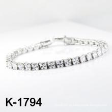 El micr3ofono de plata de la manera pavimenta la pulsera de la joyería de la CZ (K-1794. JPG)