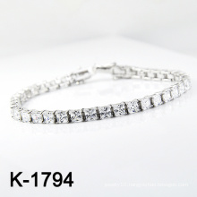 Fashion Silver Micro Pave CZ Jewelry Bracelet (K-1794. JPG)