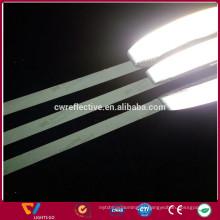 correias reflexivas da segurança do revestimento matt preto claro alto para o pano