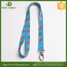 Lovecolour custom ticket holder lanyard with metal hook