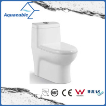 One Piece Dual Flush Round Front Bowl Toilet in White (ACT7805)