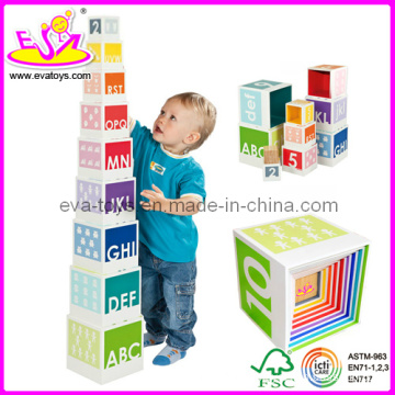 Wooden Educational Blocks Toy (W13D002)
