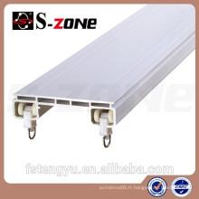 Drapery hardware pvc rail de rideau en plastique pour drapery