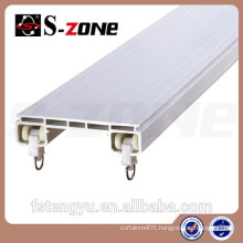 Drapery hardware pvc plastic curtain rail track for drapery