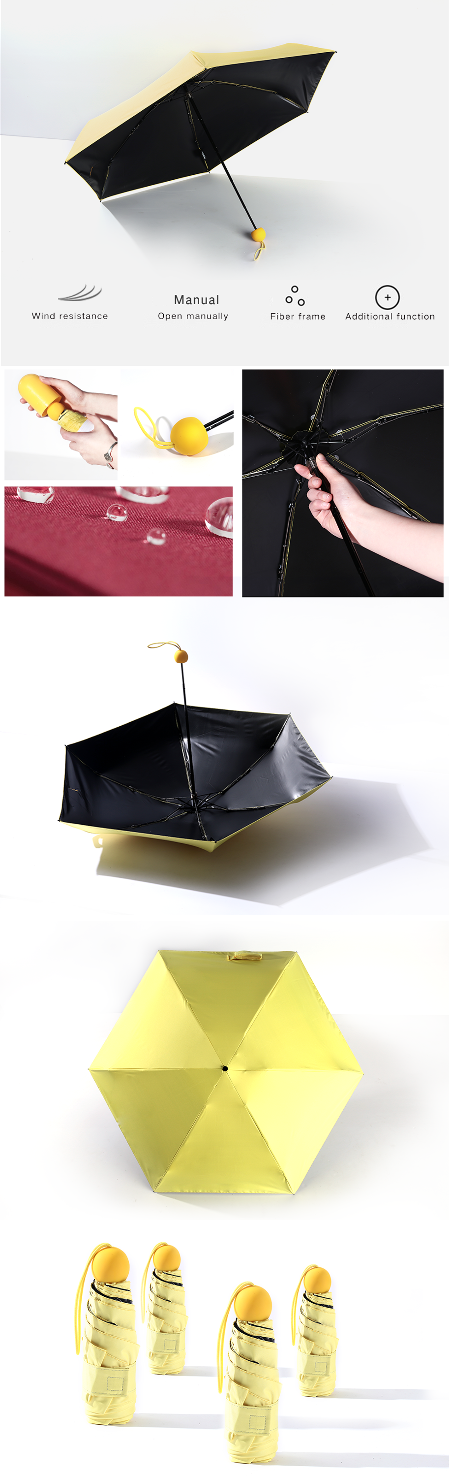 5 folding Capsule umbrella advertising05