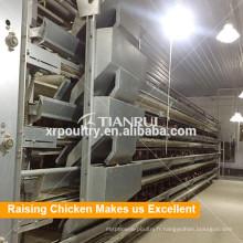 Nouveau système automatique de cage de poulailler de cadre de l'équipement H de Tianrui