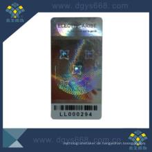 Barcode Hologramm Anti-Fälschung Etikettenaufkleber