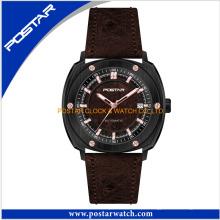 Relógios de quartzo por atacado luxuosos do logotipo feito sob encomenda para homens