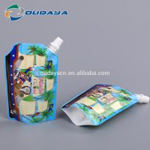 Bolsa de pé de folha de alumínio com bico e bolsa