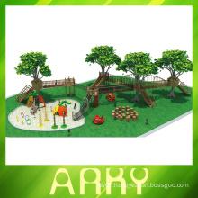 2014 Popular kids outdoor wood amusement playground