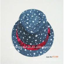 2013 sombreros de moda de Brown Fedora al por mayor fábrica OEM y ODM