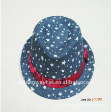 2013 Fashion Trendy Brown Fedora Hats wholesale factory OEM&ODM