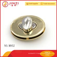 2016 haute qualité en forme ovale métallique tourner le verrou