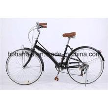 26-Дюймовый Нержавеющей Скорости Леди Ретро Город Велосипед/Женщины Голландский Велосипед