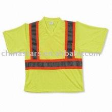 T-shirt reflexivo EN471 com fita reflectora contrastante