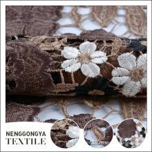 Chine personnalisé Haute qualité nouveau polyester tricoté tissu de dentelle soluble dans l'eau