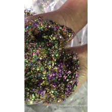 Brilho robusto misturado, formas de brilho de tamanho diferente, glitter hexagonal