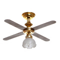 Dollhouse vintage ceiling lighting with fan 1/12 scale
