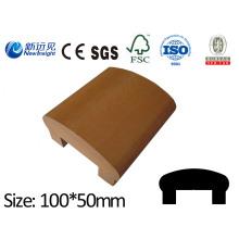 100X50 WPC поручень с SGS CE FSC ISO WPC Перила WPC Fecne Деревянные пластиковые композитные перила поручень Lhma122