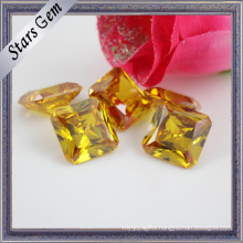 Octagon Square Bright Yellow Princess Cut CZ Gemstone