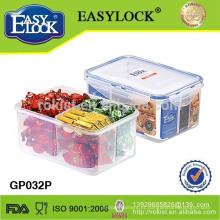 caixa de armazenamento de compartimento de comida quente plástico easylock
