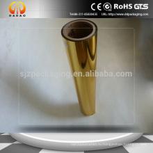 Металлизированная пленка Pet-24mic, пленка металлического термического ламинирования Gold Metallic