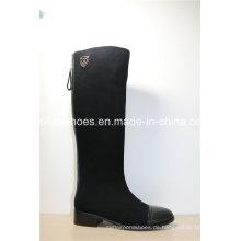 Fashion Comfort Low Heels Damen Leder Stiefel für Damen