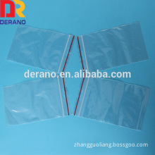 LDPE ziplock bag manufacturer red line on lip