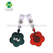 flower shape id badge holder