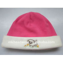 Sombrero de polo polar rosa niño