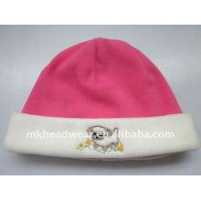 Chapeau polaire rose de l'enfant