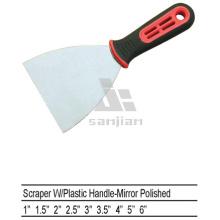 Herramientas de la pared de yeso, cuchillo de la masilla de la pintura, raspador con la manija plástica