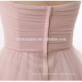 Hot sell and cheap price light pink evening dress fabrics short design above knee length Evening dress 2017 with sweetheart neck