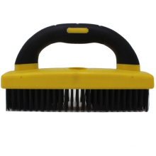 5x25 Rows Double Color Soft Grip Handle Wire Wheel Brush Wire Brushes