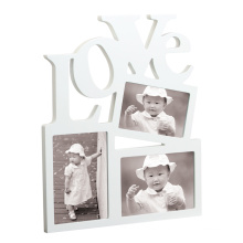 Wood Love Photo Frame and Gallery Frame with Multiple Opening