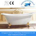 Double Ended Bathtub with Deck for Tap