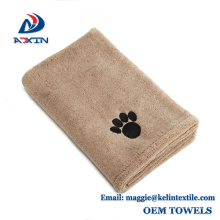 China manufacturer wholesale quick drying microfiber pet dog cleaning bath towel