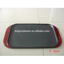 Parrilla rectangular reversible de hierro fundido doble venta caliente