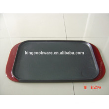 vente chaude rectangle double plaque chauffante réversible en fonte