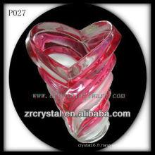 Magnifique récipient en cristal P027